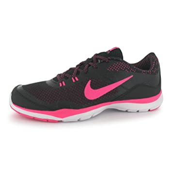 907dd5239fb8 Nike Flex Print Training Shoes Womens Black Pink Gym Fitness Trainers  Sneakers (UK6)