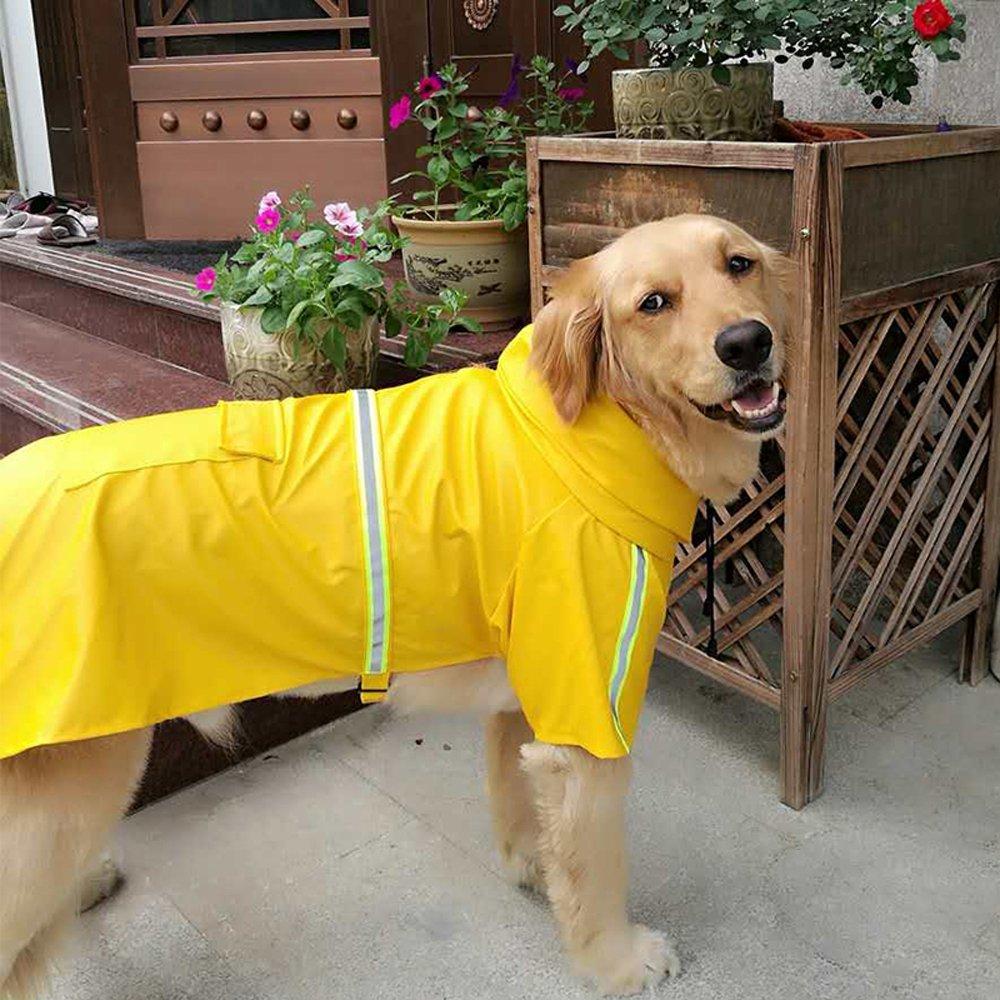 Dog Raincoat Leisure Waterproof Lightweight Dog Coat Jacket Reflective Rain Jacket with Hood for Small Medium Large Dogs