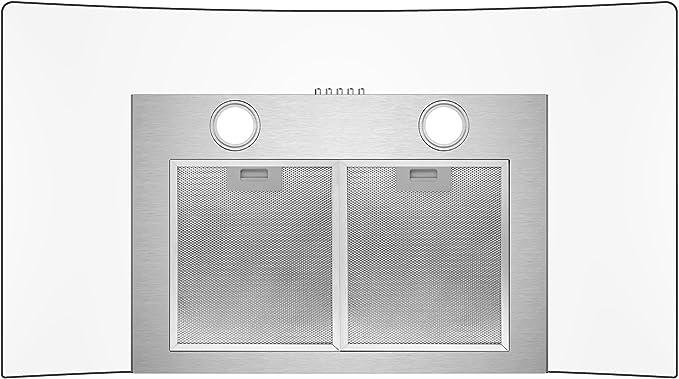 CIARRA Filtro de grasa de aluminio para campana extractora CBCS9506B CBCB9506B (230.5 x 259.5 mm), 1 pieza: Amazon.es: Grandes electrodomésticos