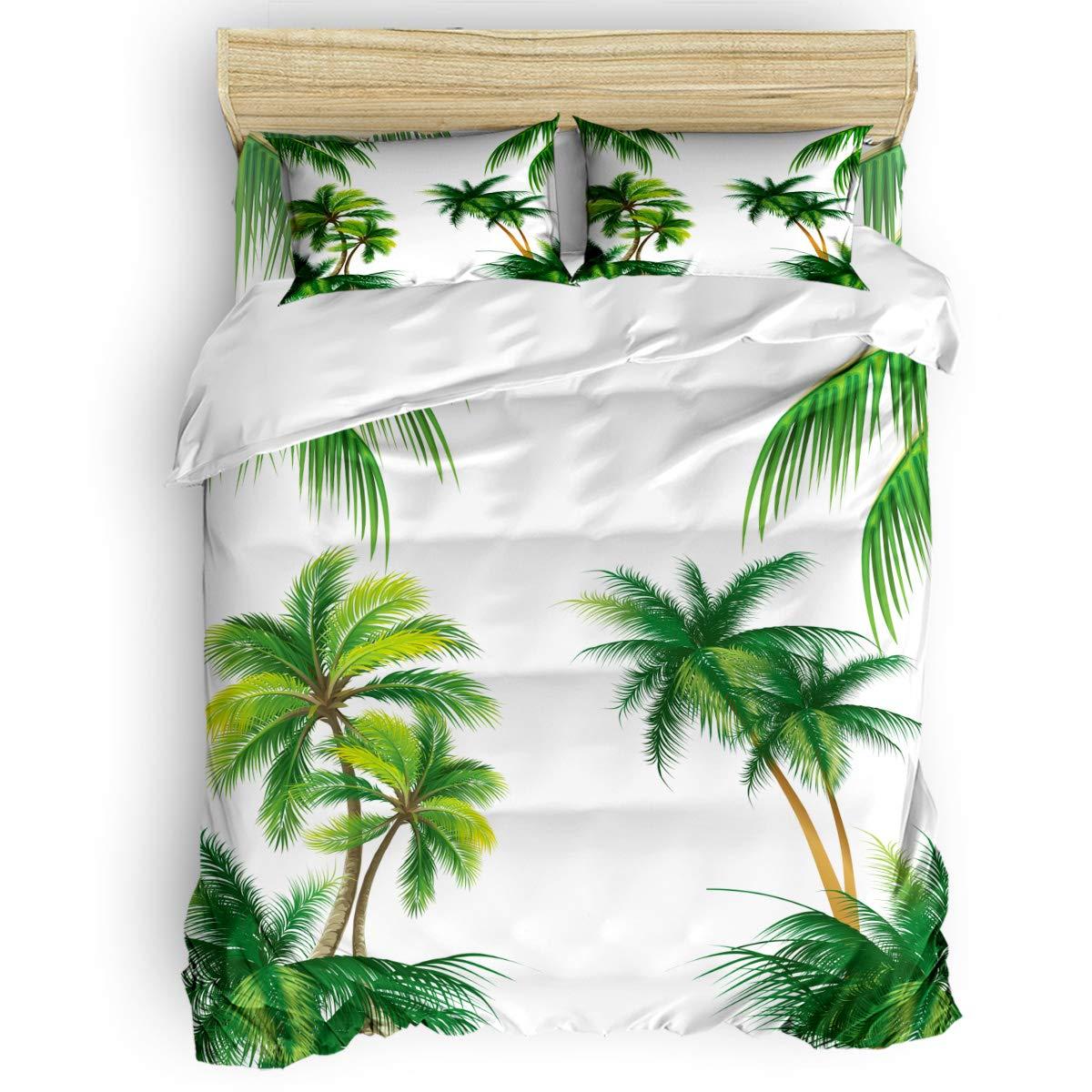 掛け布団カバー 4点セット 美しい 海洋生物 海 カラフルなサンゴ パターン 寝具カバーセット ベッド用 べッドシーツ 枕カバー 洋式 和式兼用 布団カバー 肌に優しい 羽毛布団セット 100%ポリエステル クイーン B07TF8X5XS Coconut treeLAS3286 クイーン