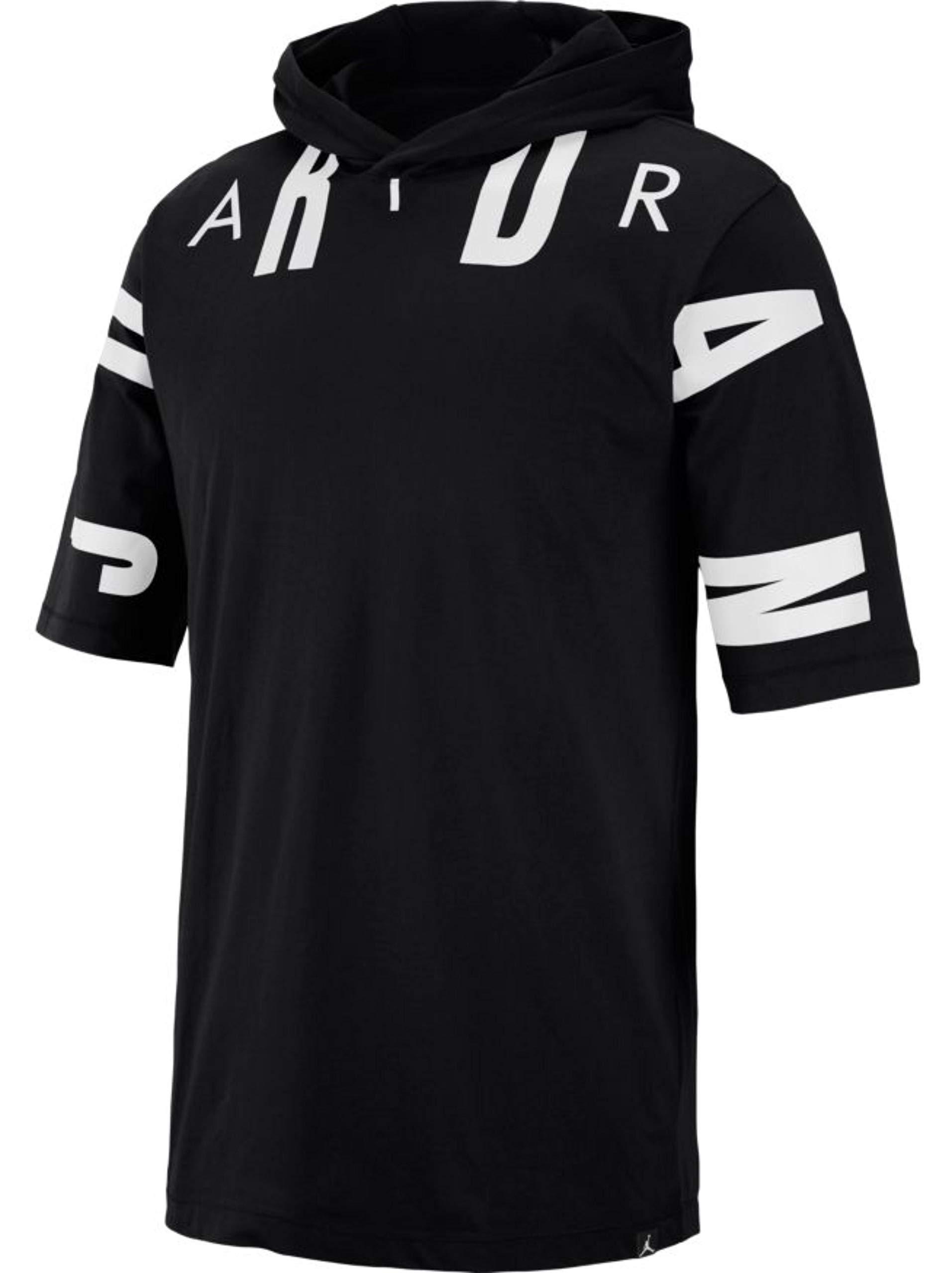Jordan Sportswear 23 Men's Hooded T-Shirt - AA1915-010 Black/White (Medium)