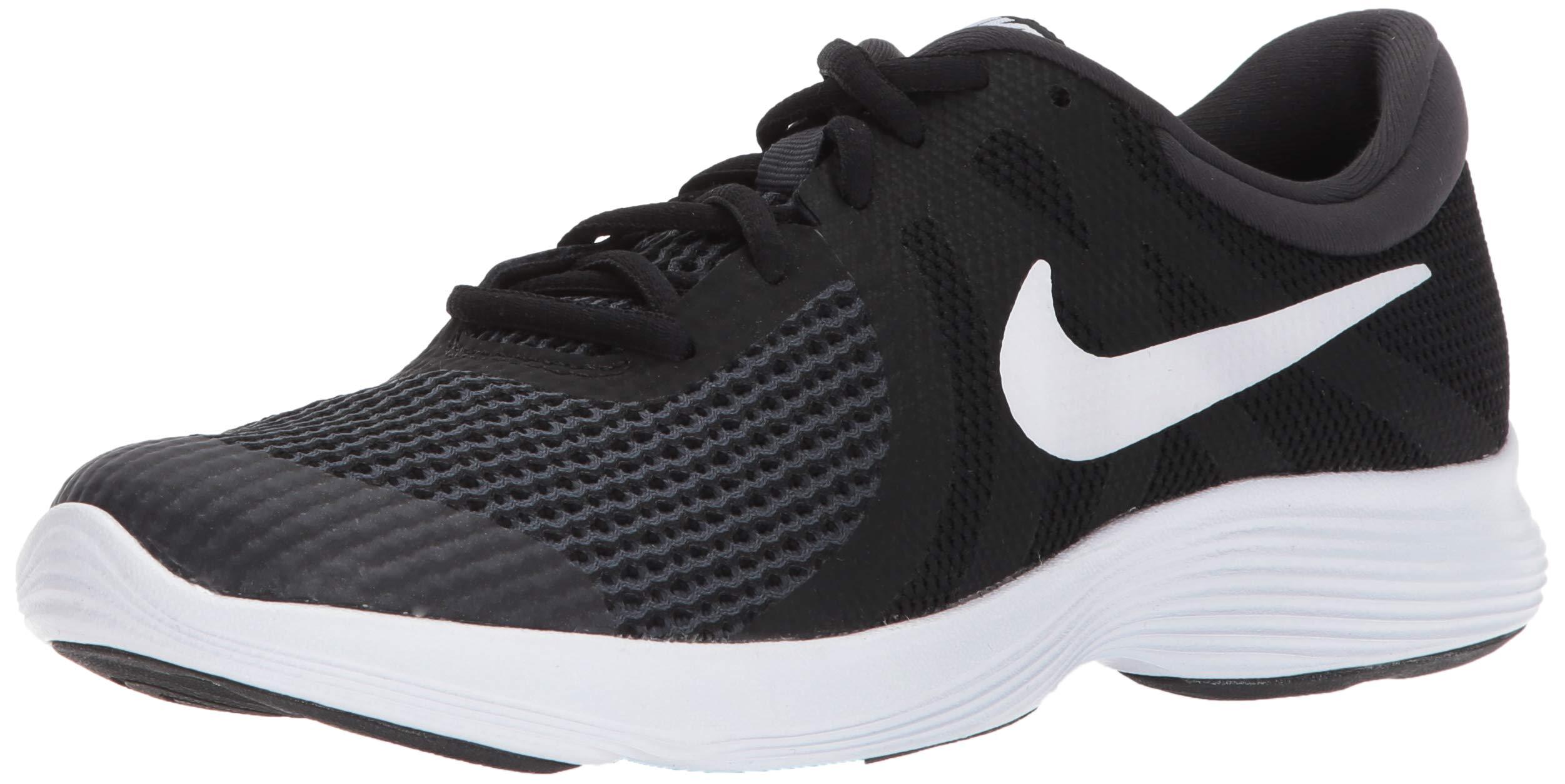 Nike Boys' Revolution 4 (GS) Running Shoe, Black/White-Anthracite, 6Y Youth US Big Kid