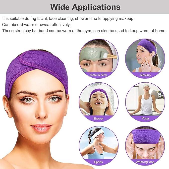 Amazon.com : 5PCS Spa Facial Headband, AISONBO Make Up Hair ...