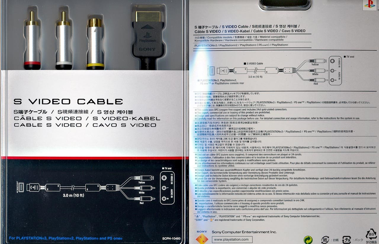 Sony PS3 S-Video Cable