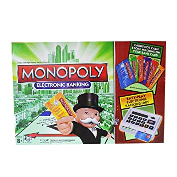 MONOPOLY Revolution Monopoly Electronic Banking Board Game for Families and Kids Ages 8 and Up, 2-4 Players