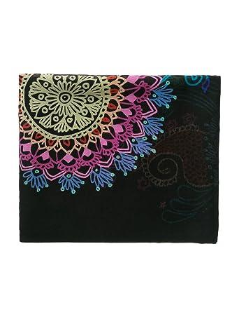 3e241ec859939 Desigual Women's Delilah Rectangle Mandala Print Foulard Scarf, Negro, One  Size at Amazon Women's Clothing store: