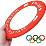 Frisbee Rings,[5 Pack] Unbreakable Long Range Ultimate Disc for Boys & Girls - Fun Birthday Presents & Party Gifts - Indoor & Outdoor Games at School Gym, Park, Back Yard & Beach, Dog Trackshot