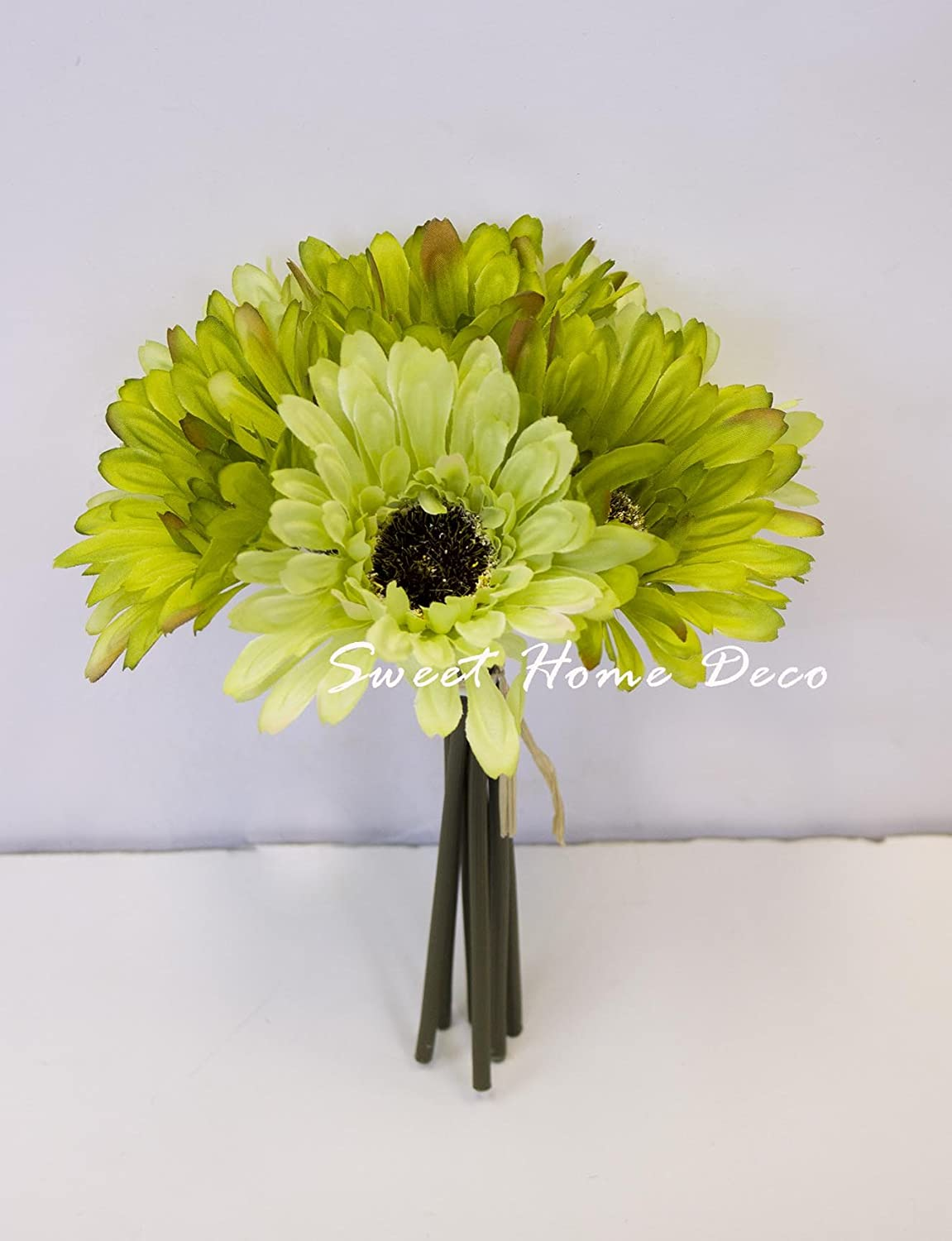 Amazon Sweet Home Deco 8 Silk Artificial Gerbera Daisy Flower