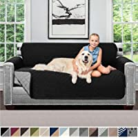 Sofa Shield Original Patent Pending Reversible Sofa Protectors, Machine Washable Furniture Slipcover, 2 Inch Strap, Couch Slip Cover Throw, Slipcovers for Pets, Kids, Cats, Sofa