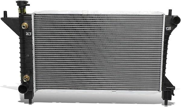 94-96 Ford Mustang 1 Pack DNA Motoring OEM-RA-1488 Black Aluminum Radiator