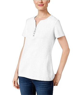 328d557ec6a6b Karen Scott Henley T-Shirt (Bright White