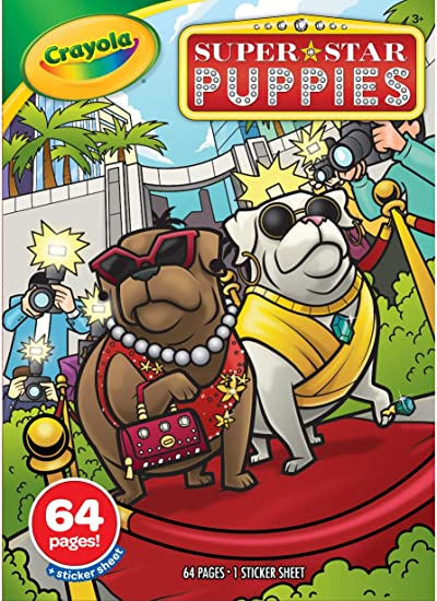 - Amazon.com: Crayola Superstar Puppy Coloring Book & Sticker Sheet, 64 Pages,  Gift: Toys & Games