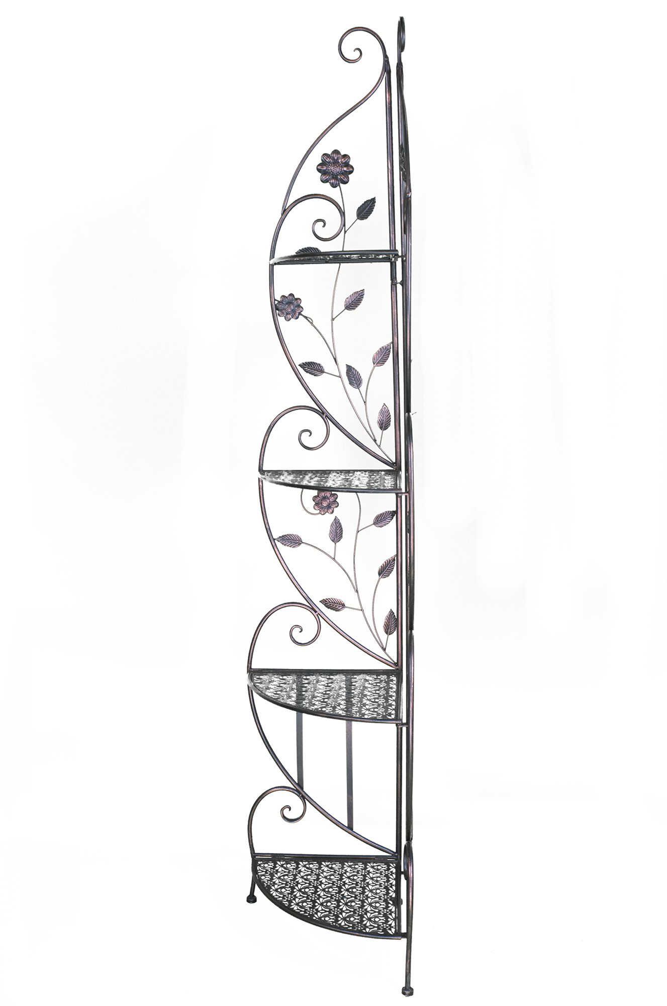 Heather Ann Creations W190795-BC Daisy Kitchen Corner Bakers Rack, Blackened Copper by Heather Ann Creations (Image #2)