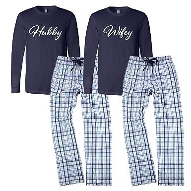 d09748eca0 Classy Bride Wifey and Hubby Pajamas Set - Blue (S Wifey - L Hubby)