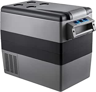 BuoQua Refrigerador para Coche 55 L Mini Nevera -20 a 10 Grados CentígradosMini Caja del Congelador Caja Fresca Mini Frigorífico Coche para Camping Caravanas Picnics Festivales