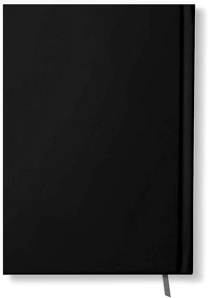 42thinx Notizbuch Vollmond Auf Schwarz DIN A4 blanko I Notizblock mit Hardcover 128 Seiten mit Designcover I Hochwertiges Journal mit Lesezeichen I Notizblock gebunden Motiv