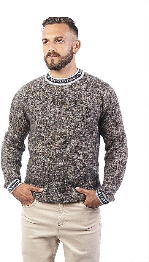 Raymis Alpaca Wool Cusco Geometric Women/´s Round Neck Sweater Soft /& Comfortable Warm