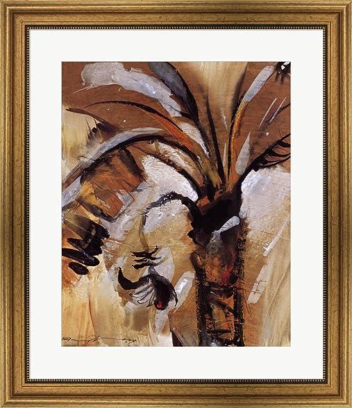 Amazon.com: Havana Palm II by Kamyl Bullaudy Framed Art Print Wall ...