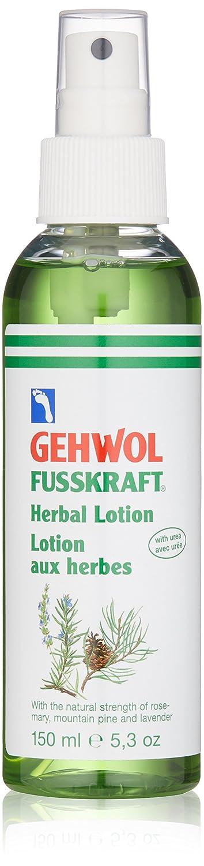 Gehwol Fusskraft Lozione alle erbe 150ml per eliminare il cattivo odore dei piedi, rinfrescante