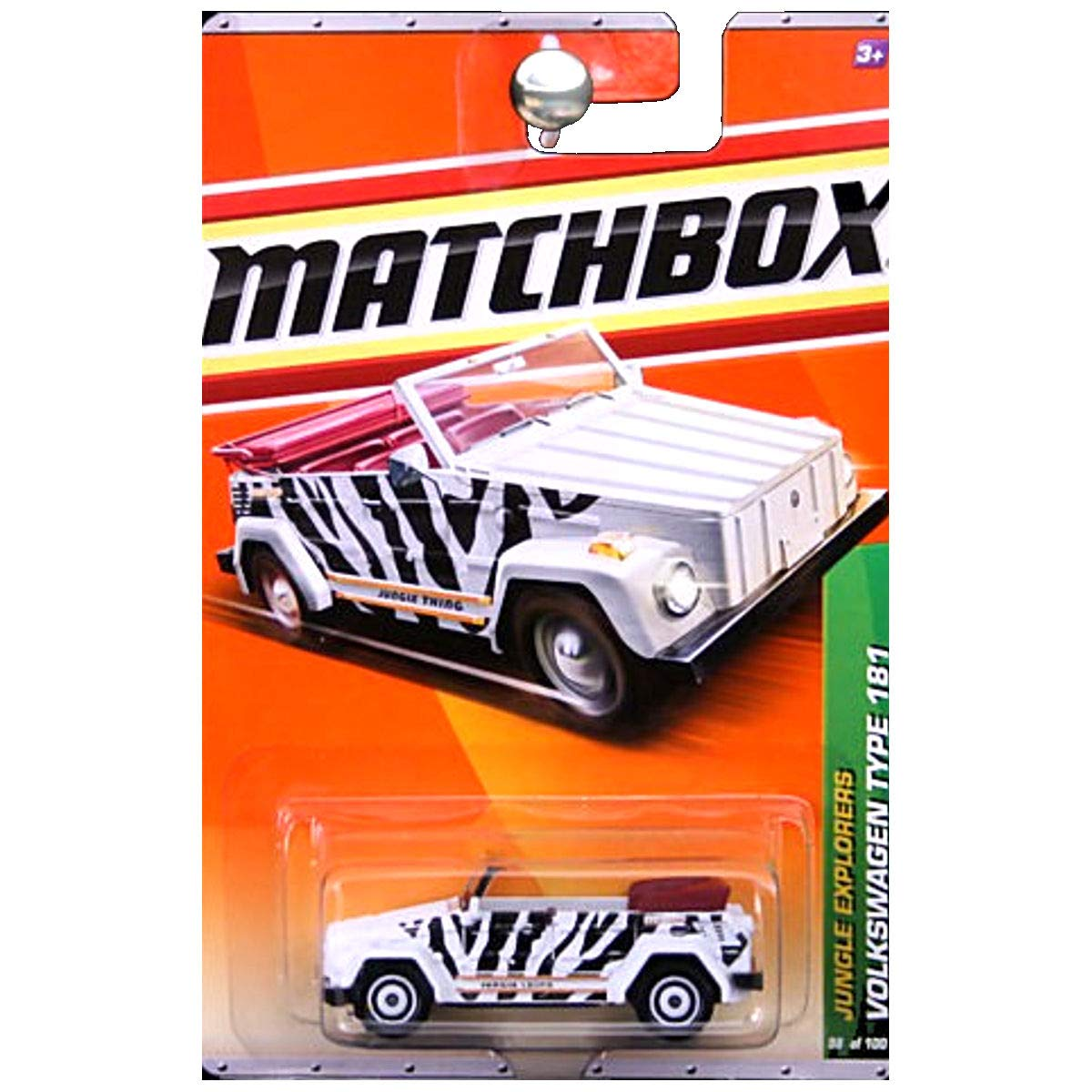 VOLKSWAGEN TYPE 181  WHITE  Jungle Explorers Series (4 of 6) MATCHBOX 2011 Basic Die-Cast Vehicle (98 of 100) by Matchbox