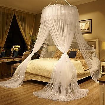 DEu0026QW Traum Prinzessin Bett Baldachin Bett Vordächer, Elegante Schattierung  Hängenden Moskitonetz B Queen1