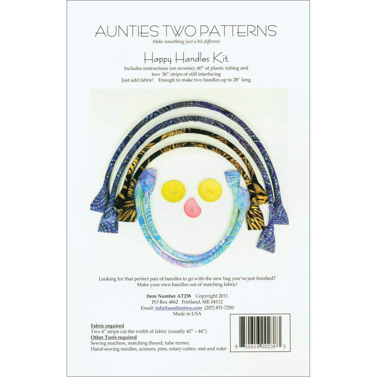 Amazon.com : Aunties Two Patterns - Happy Handles Kit : Prints ...