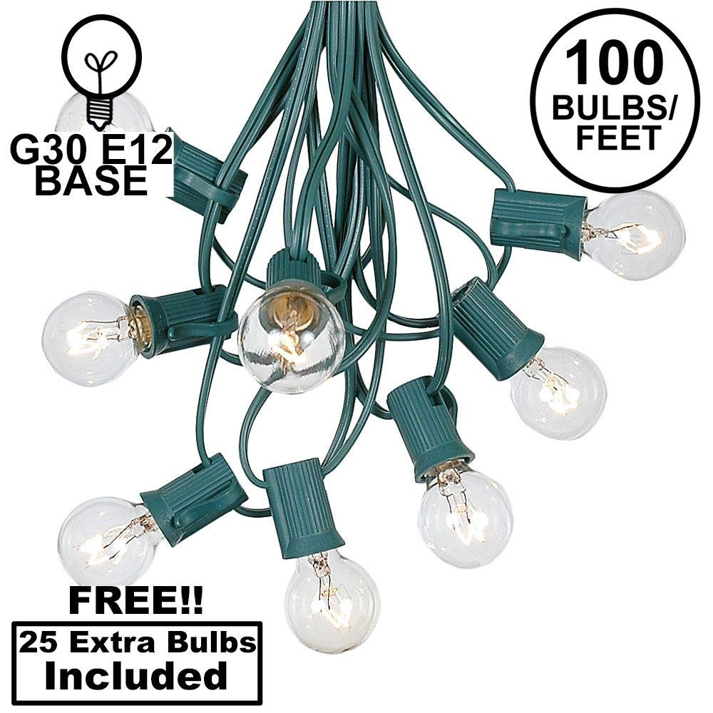 Amazon.com: G30 luces de cadena con 125 Globe bombillas ...