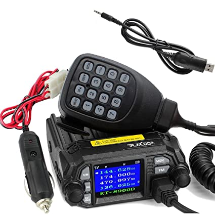 TALKCOOP KT-8900D 25W/20W Dual Band VHF/UHF(136-174/400-480MHZ) Mini Color  Screen Quad-Standy Mobile Car Radio 2 Way Radios Walkie Talkie Car Mobile