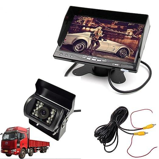 """5 opinioni per Cocar Auto Camion Monitor da 7"""" inch HD TFT LCD + Heavy Duty Telecamera"""
