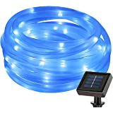 LE 50 LEDs Solar Power Rope Lights, Waterproof, Blue, 22.97ft, Portable, Light Sensor, Outdoor Christmas Tree, Garden, Patio, Party, Wedding, Lawn, Holiday, Festival, Celebration, Decoration