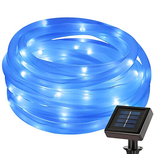 Le 50 leds solar rope lights 5m waterproof outdoor path lights le 50 leds solar rope lights 5m waterproof outdoor path lights blue led aloadofball Choice Image