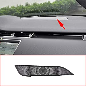 CHEYA Black Aluminum Alloy Car Dashboard Speaker Net Cover Trim Accessories Left Hand Drive For Range Rover Evoque 2020 Year