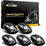 Partsam 5x Cab Marker Clearance Smoke Light w/ White 9LED Assembly for 2003 - 2016 Dodge Ram 1500 - 5500