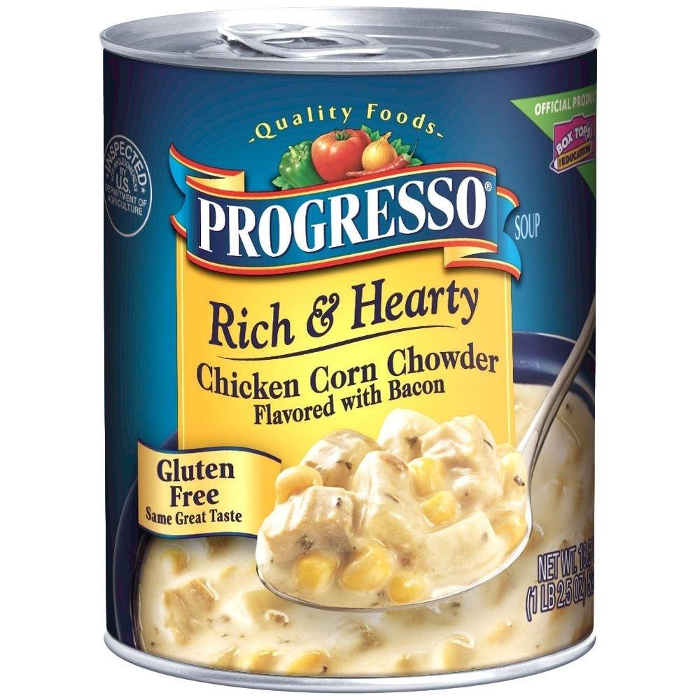 Progresso Rich & Hearty, Chicken Corn Chowder Soup, 18.5 oz (Pack of 6)
