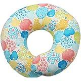 エスメラルダ&プラチナムベイビー ドーナツ枕【日本製】赤ちゃん 頭の形が良くなる (ブルーアップル)