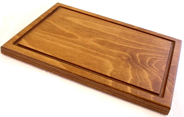 f5c020f8269f2 Prosharp FACILE Planche à découper XL professionnelle Viande en bois Massif  Naturel/Sous de plats