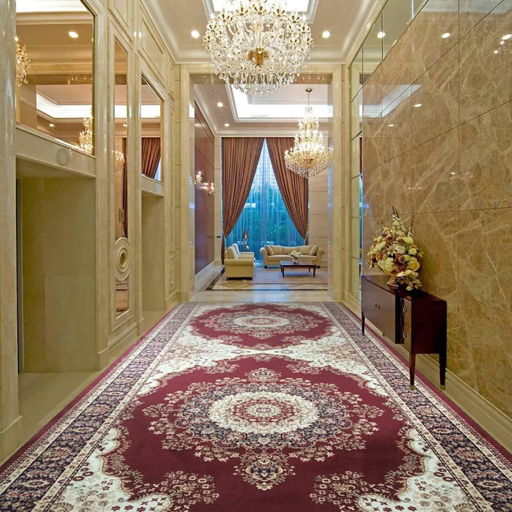 GuoWei-じゅうたん 廊下敷きカーペッ じゅうたん 伝統的な フローラル パターン 長さ カスタマイズされた、54サイズ (色 : A, サイズ さいず : 1.2x7m) 1.2x7m A B07QC5X6GG