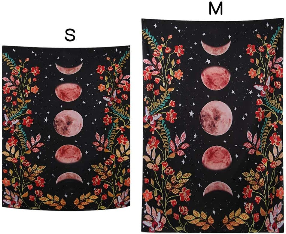 M Starry Moon Wall Hanging Hippie Tapestry Wall Blanket Art Print Patterned Home Decoration