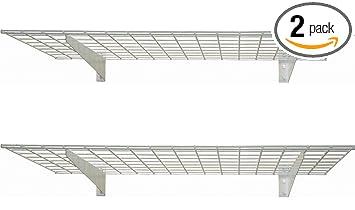 hyloft 45inch by 15inch wall shelf off white 2