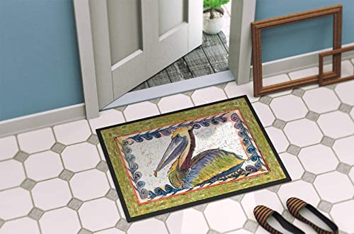 Caroline s Treasures 8057-MAT Pelican Indoor or Outdoor Mat 18×27 8057 Doormat, 18H X 27W, Multicolor