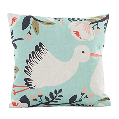 Amazon.com: Funda de almohada de estilo vintage con flores ...