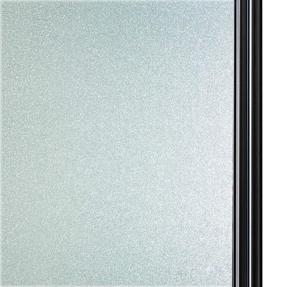 Qualsen Privacy Window Film Frosted Glass Film Matte White Non-Adhesive Static Window Cling Anti-UV Window Sticker for Bathroom Home Office Kitchen Living Room Front (47.2 x 78.7 inch)
