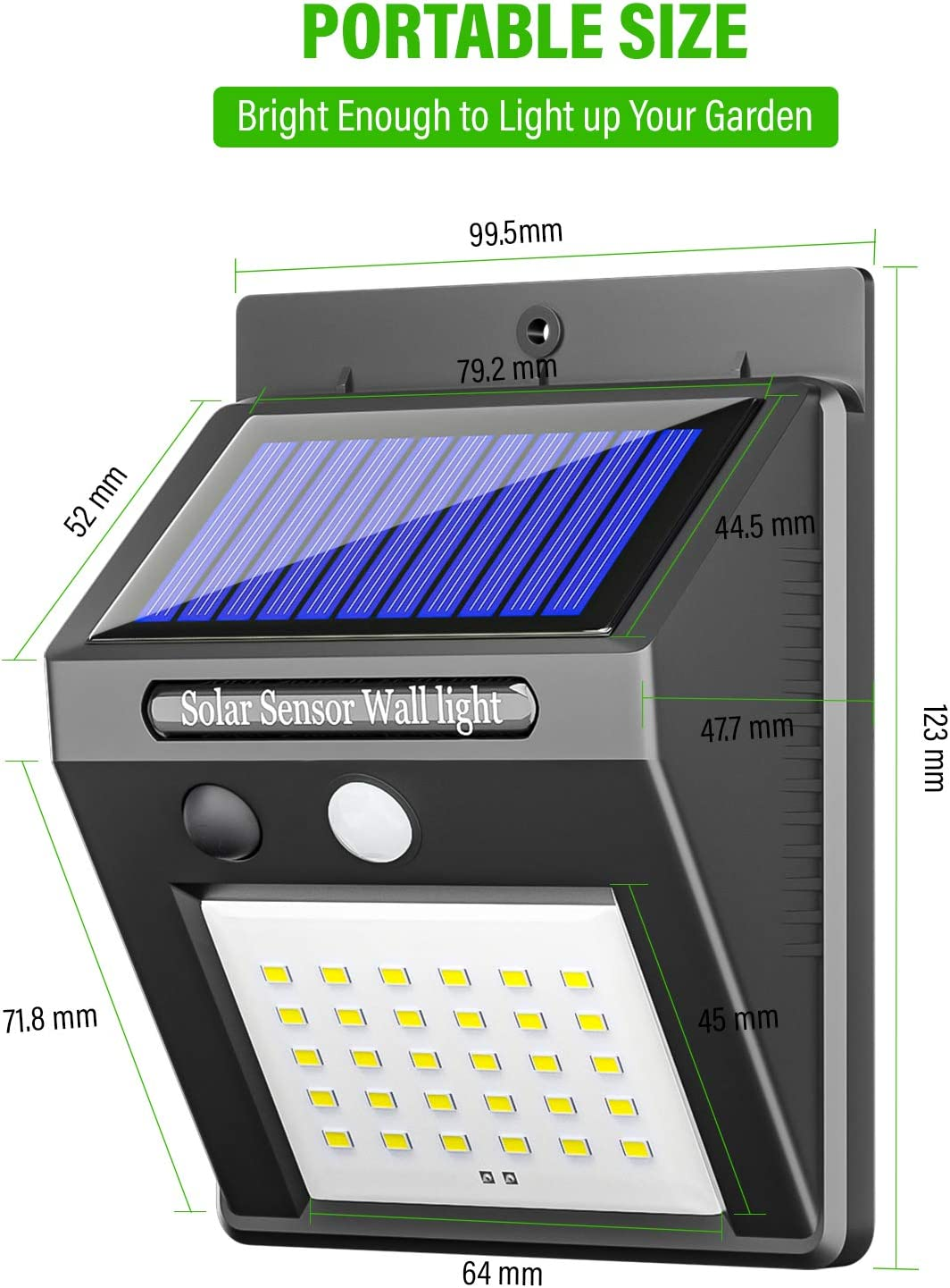 iToncs Luces solares para exteriores luz de seguridad luces de pared para jard/ín impermeables con sensor de movimiento inal/ámbrico funciona con energ/ía solar 2 unidades