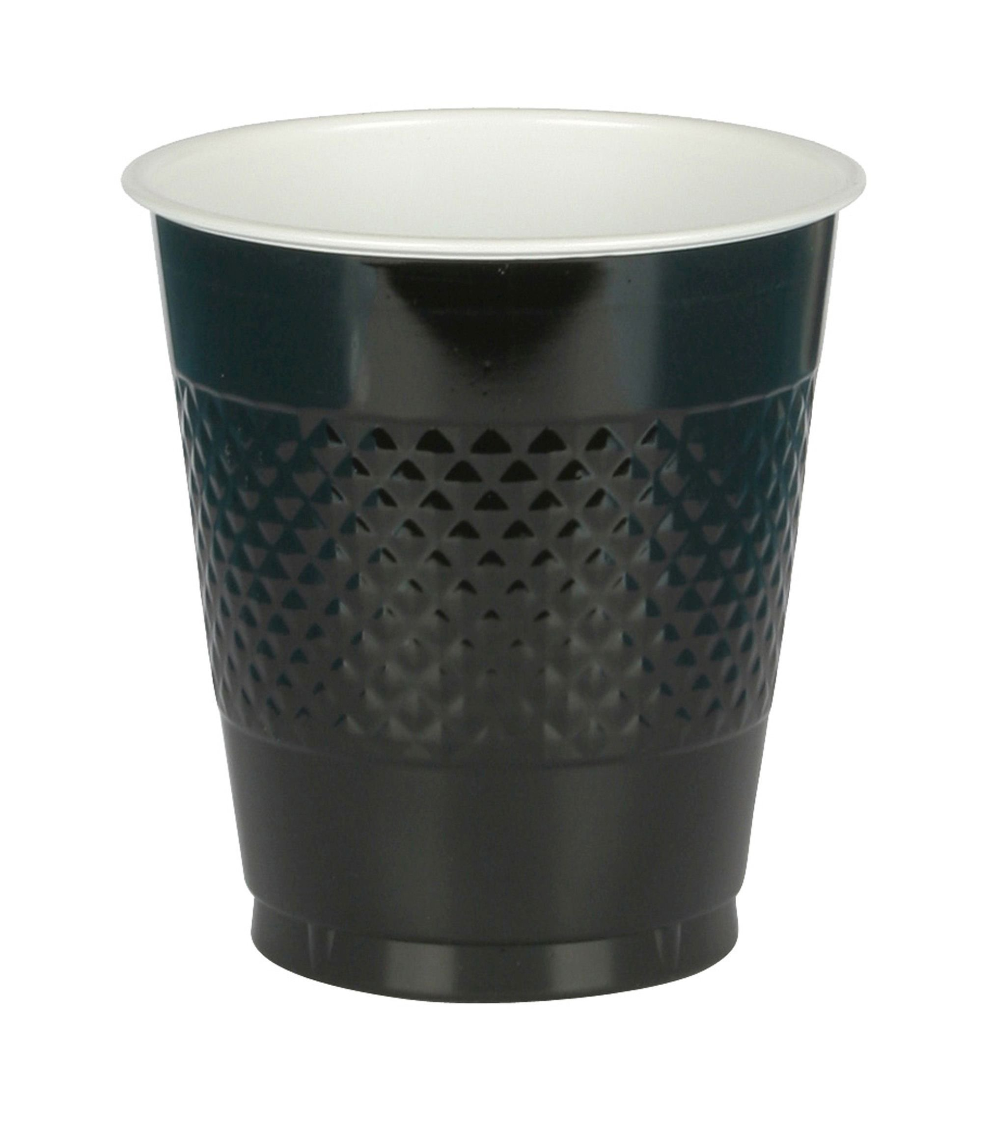 Big Party Pack Jet Black Plastic Cups | 16 oz. | Pack of 50 | Party Supply by Amscan