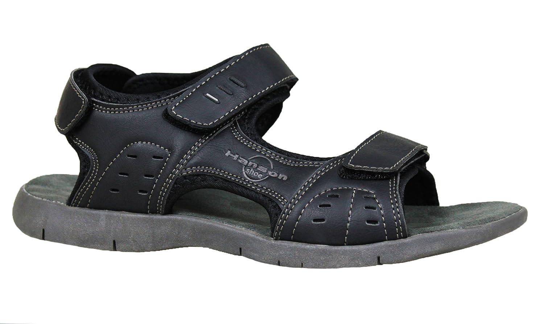 Hanson - Sandalias de vestir para hombre negro negro 40 42