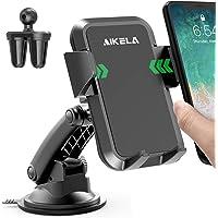 AIKELA Auto Telefoon Houder, 3 in 1 Telefoon Mount 360 ° Rotatie Auto Cradle voor Windscherm Dashboard Air Vent, One…
