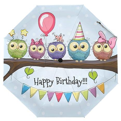happy birthday owl images Amazon.: Cooper girl Happy Birthday Owl Umbrella Sun Rain  happy birthday owl images