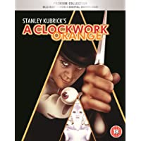 A Clockwork Orange: The Premium Collection (Blu-ray + DVD + Bonus Disc + Digital Download + UV + Booklet + HMV Exclusive Slipcase Packaging) (3-Disc Set + Region Free + Fully Packaged Import)