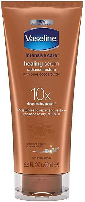 Vaseline Intensive Care Healing Serum, Radiance Restore 6.80 oz (Pack of 4) Peter Thomas Roth Cucumber De-Tox Bouncy Hydrating Gel, 1.7 oz.