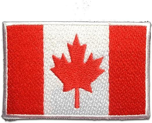 Parches - Canadá bandera - rojo - 7.4x4.9cm - termoadhesivos bordados aplique para ropa: Amazon.es: Hogar